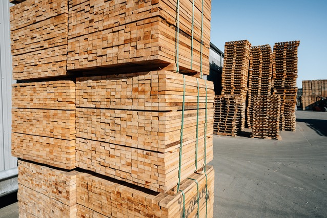 stacks of lumber used to build pallets