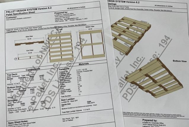custom designed pallet specifications