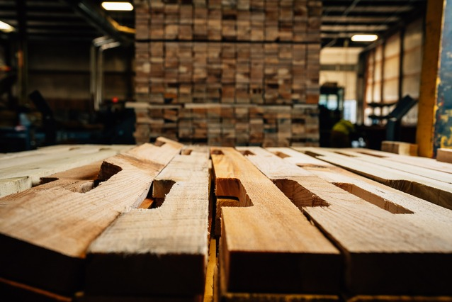 pallet parts in manufacturing process